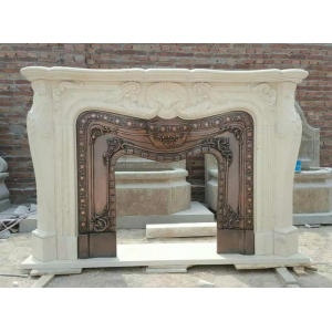 Large Size Egypt Cream Fireplace Mantel